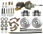 55-58 CHEV STANDARD FRONT DISC KIT W/POWER