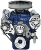 Ford 351C Kit with Alternator and A/C with Machine Finish Brackets