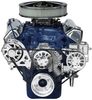 Ford 351M-400 Kit with Alternator and Power Steering with Machine Finish Brackets