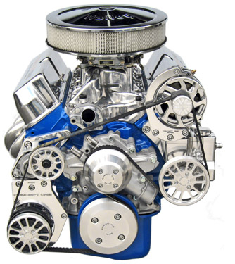 Small Block Ford Kit with Alternator, A/C and Power Steering - For 351W Short Waterpump