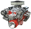 Small Block Chevy Victory Series Kit with Alternator and A/C WITHOUT POWER STEERING