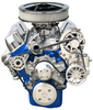 Small Block Ford Kit with Alternator and Power Steering (FOR 351 SHORT WATERPUMP WITH MACHINE FINISH BRACKETS)